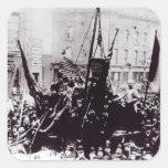 Huelga de muelle de Londres, 1889 2 Calcomanías Cuadradas