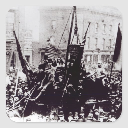Huelga de muelle de Londres, 1889 2 Pegatina Cuadrada