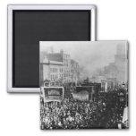 Huelga de muelle de Londres, 1889 Imán Cuadrado