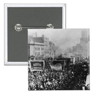 Huelga de muelle de Londres, 1889 Pin Cuadrado