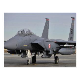 Huelga Eagle de F-15E Tarjeta Postal