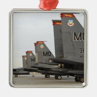 Huelga Eagles de la fuerza aérea de los Adorno Navideño Cuadrado De Metal