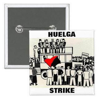huelga strike pin