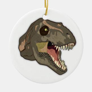 HUELGAS del Tyrannosaurus Adorno Navideño Redondo De Cerámica