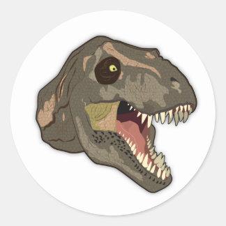 HUELGAS del Tyrannosaurus Pegatina Redonda