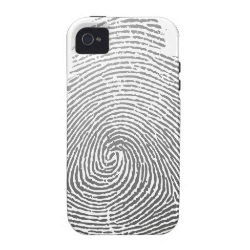 Huella dactilar carcasa Case-Mate para iPhone 4