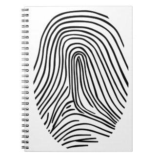 Huella dactilar spiral notebook