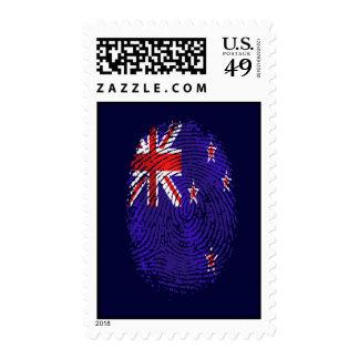 huella dactilar de la bandera de la DNA Nueva Envio