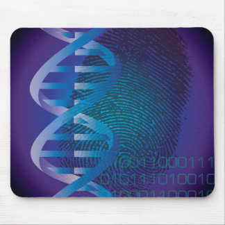Huella dactilar de la DNA de CSI Alfombrillas De Ratones