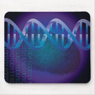 Huella dactilar de la DNA Tapetes De Ratón