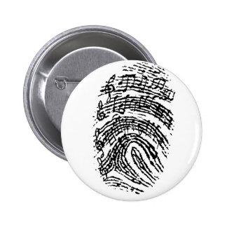 Huella dactilar de la música pin