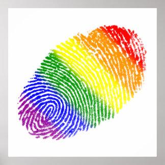 Huella dactilar de LGBT Póster