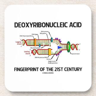 Huella dactilar del ácido desoxirribonucléico del posavaso