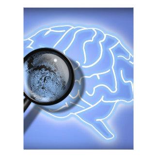 Huella dactilar del cerebro tarjeta publicitaria