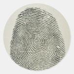 Huella dactilar etiquetas redondas