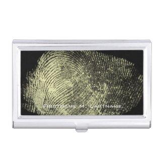 Huella dactilar invertida del lazo cajas de tarjetas de negocios