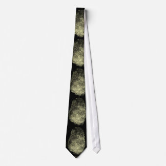 Huella dactilar invertida del lazo corbata personalizada