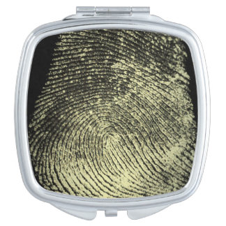 Huella dactilar invertida del lazo espejo de viaje