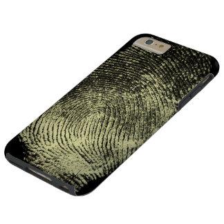 Huella dactilar invertida del lazo funda de iPhone 6 plus tough