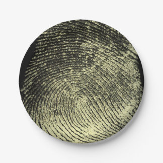 Huella dactilar invertida del lazo plato de papel de 7 pulgadas