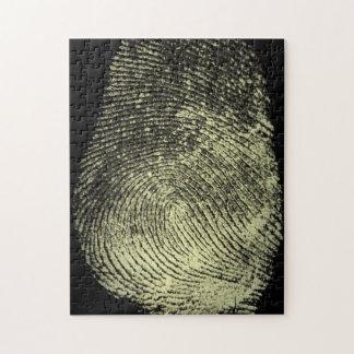 Huella dactilar invertida del lazo puzzle con fotos