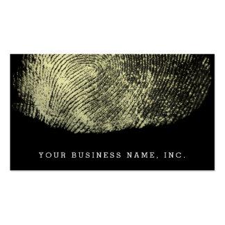 Huella dactilar invertida del lazo tarjetas de visita