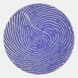 Huella dactilar pegatina redonda