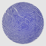 Huella dactilar pegatinas redondas