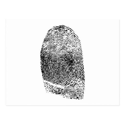 Huella dactilar tarjeta postal