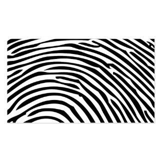 Huella dactilar tarjetas de visita
