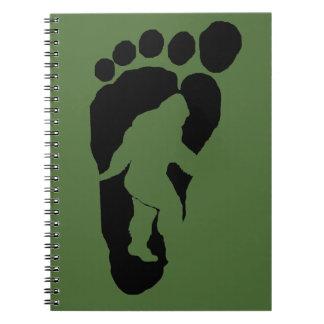 Huella de Bigfoot Libros De Apuntes Con Espiral