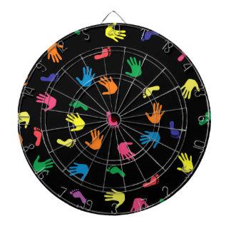 Huella de Handprint multicolora