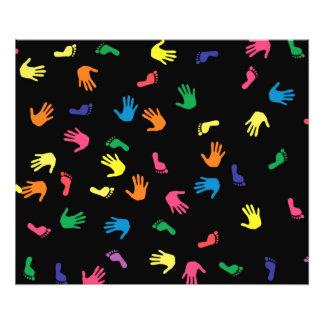 Huella de Handprint multicolora Fotografía