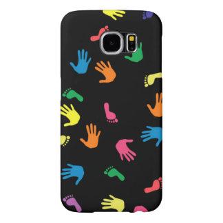 Huella de Handprint multicolora Funda Samsung Galaxy S6