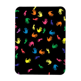 Huella de Handprint multicolora Iman