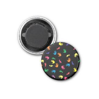 Huella de Handprint multicolora Imán Redondo 3 Cm