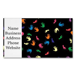 Huella de Handprint multicolora Tarjetas De Visita Magnéticas (paquete De 25)