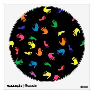 Huella de Handprint multicolora Vinilo Decorativo