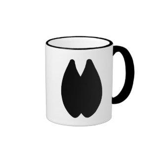 Huella de la alpaca taza a dos colores