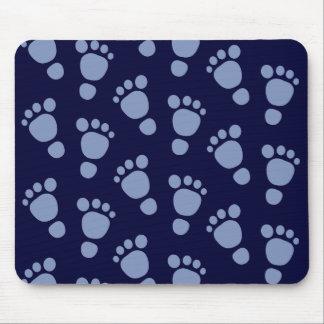 ¡Huella del bebé azul es un muchacho! Modelo Mouse Alfombrillas De Ratón
