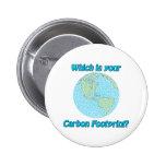 Huella del carbono pin