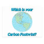 Huella del carbono tarjeta postal