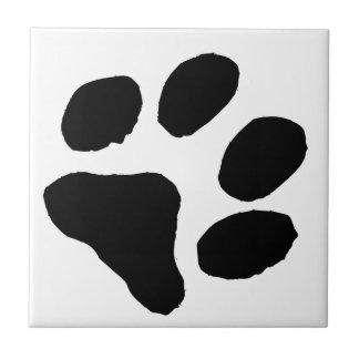 Huella del gato azulejo cuadrado pequeño