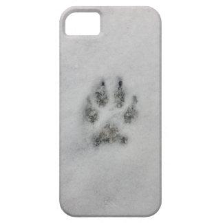 Huella del perro en caso del iPhone de la nieve Funda Para iPhone SE/5/5s
