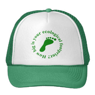 Huella ecológica, gorra 2