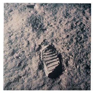 Huella en superficie lunar azulejo cerámica