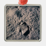Huella en superficie lunar ornamentos para reyes magos