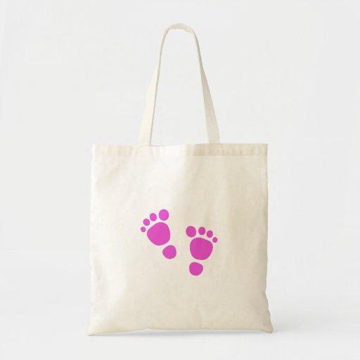 ¡Huella rosada del bebé es un chica! La bolsa de a