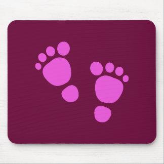¡Huella rosada del bebé es un chica Mousepad Tapetes De Raton