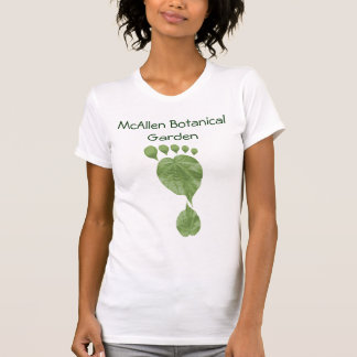 Huella verde adaptable de la hoja camiseta